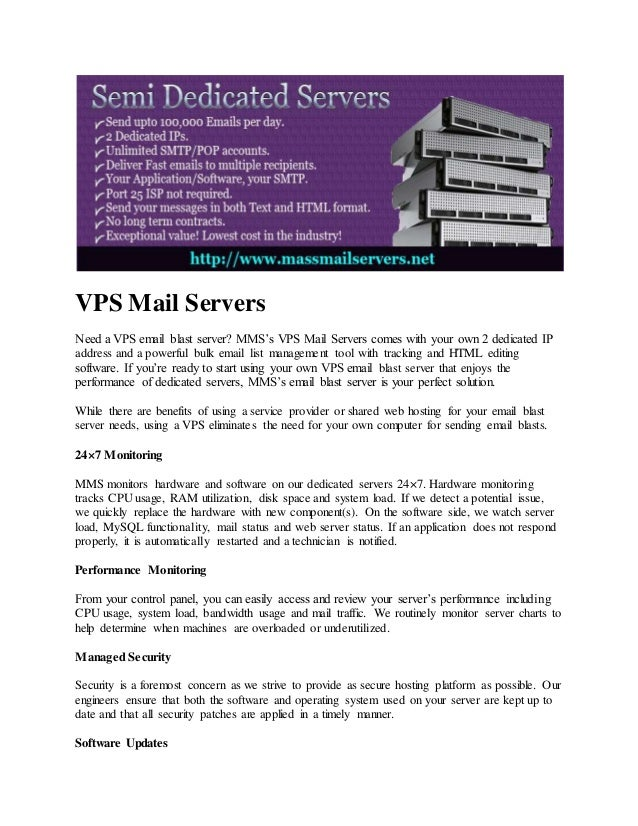 Private Email Server is a Low Cost Mass Mail Bulk Mail
