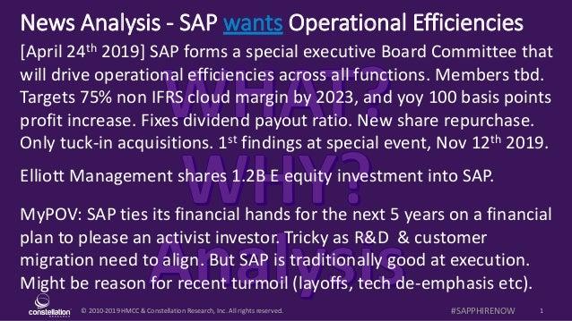 News Analysis - SAP wants (needs?) to find efficiencies