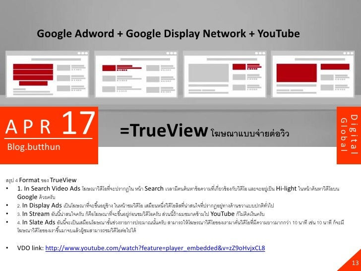 Google Adword + Google Display Network + YouTube                         17                                               ...