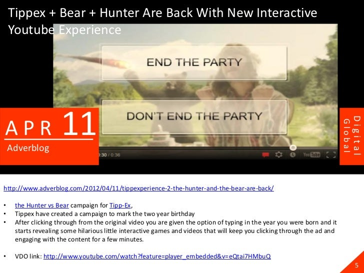 Tippex + Bear + Hunter Are Back With New Interactive    Youtube Experience                     11                         ...