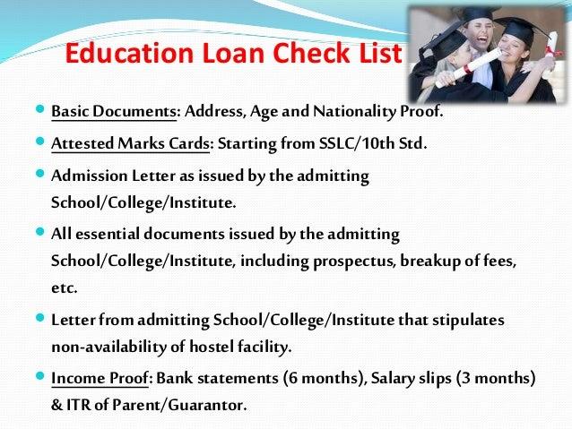 State bank study loan