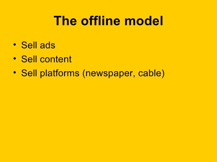 developing an online newspaper business model The search for a new business model  new revenue model to revive the newspaper industry is making only halting  progress in developing new non.