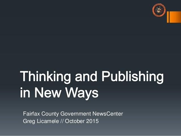 Fairfax County Government NewsCenter Greg Licamele // October 2015
