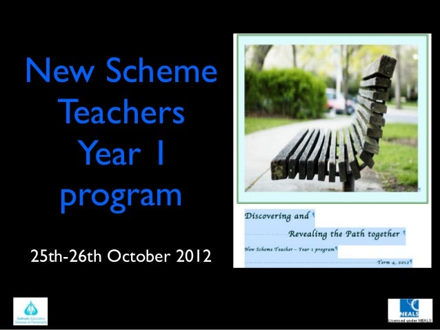 New Scheme Teachers  Year 1 program25th-26th October 2012