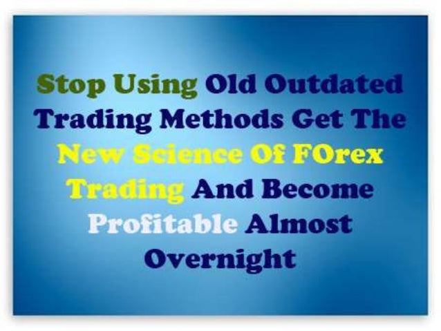New science of forex trading