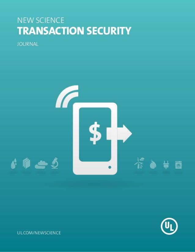 NEW SCIENCETransaction SecurityJOURNALul.com/newscience