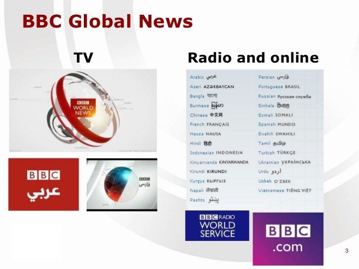 TV Radio and online BBC Global News