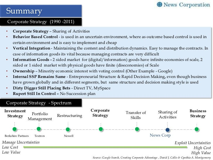 newell company corporate strategy case analysis