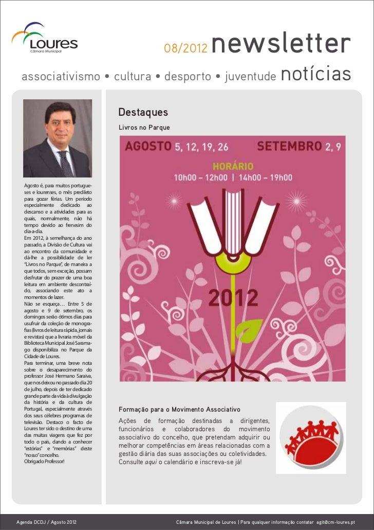 08/2012            newsletter  associativismo • cultura • desporto • juventude                                            ...