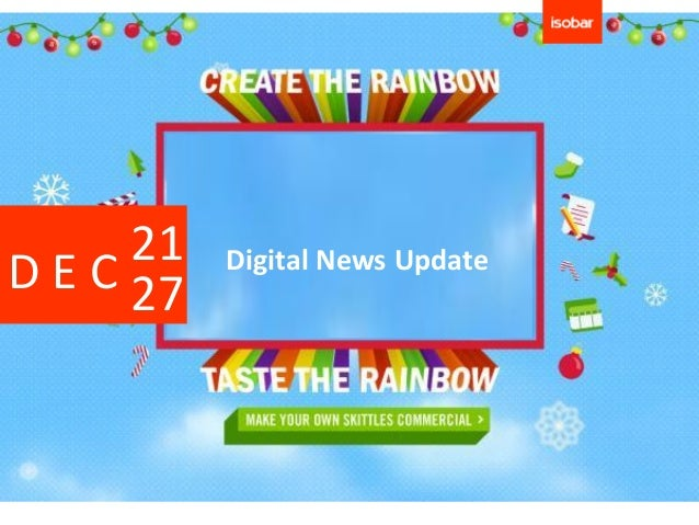 21   Digital News UpdateD E C 27