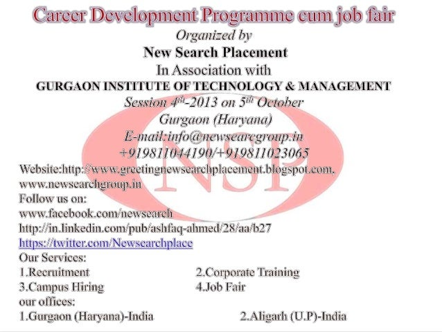 OBJECTIVE M.D New Search Placement • Job fair will give an opportunity for potential employers from industries to directly...
