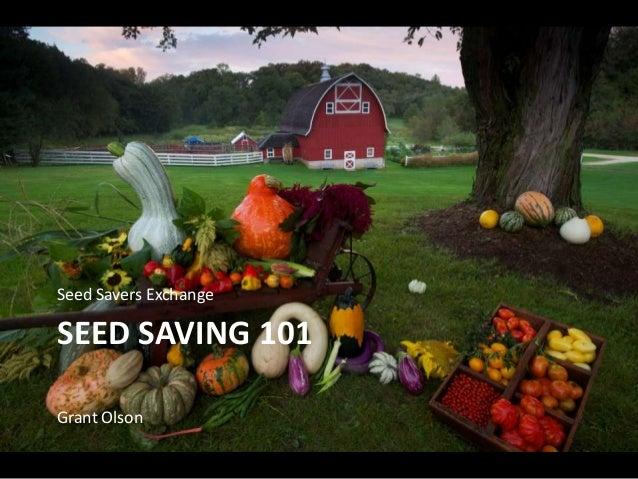 SEED SAVING 101 Seed Savers Exchange Grant Olson