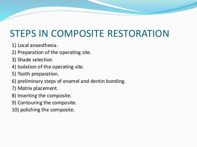 Posterior Direct Composite Restoration