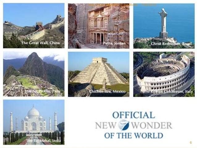 New seven wonders of the world kamlesh