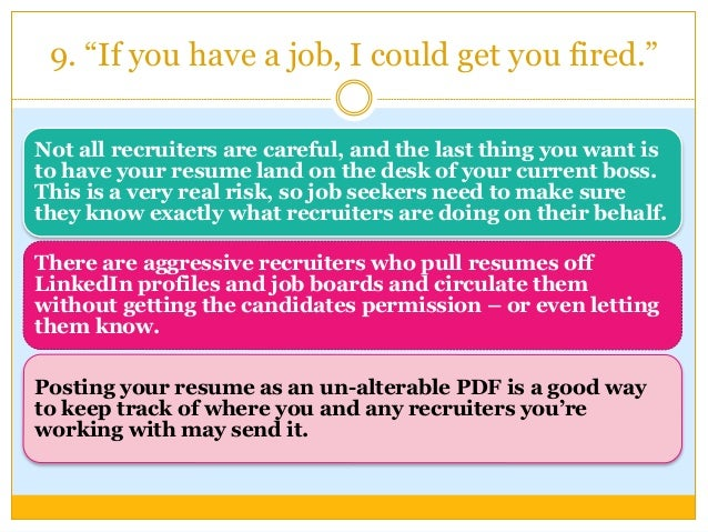 10 things job recruiters won t say
