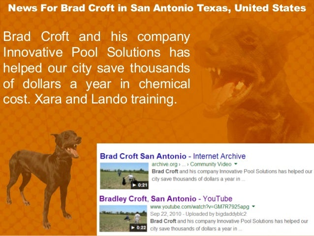 News ForBrad Croft in San Antonio Texas, United States Brad Croft and his company Innovative Pool Solutions has helped ou...