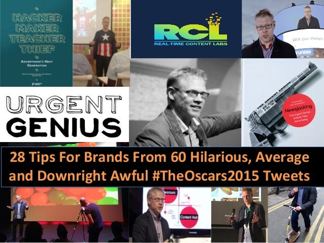 28  Tips  For  Brands  From  60  Hilarious,  Average   and  Downright  Awful  #TheOscars2015  Twee...
