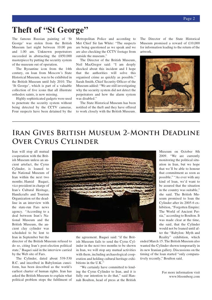 News Letter Example – Example of a News Letter