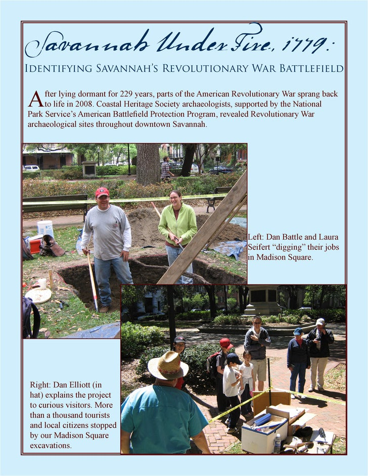 Savannah Under Fire, 1779: Identifying Savannah's Revolutionary War Battlefield   A    fter lying dormant for 229 years, p...