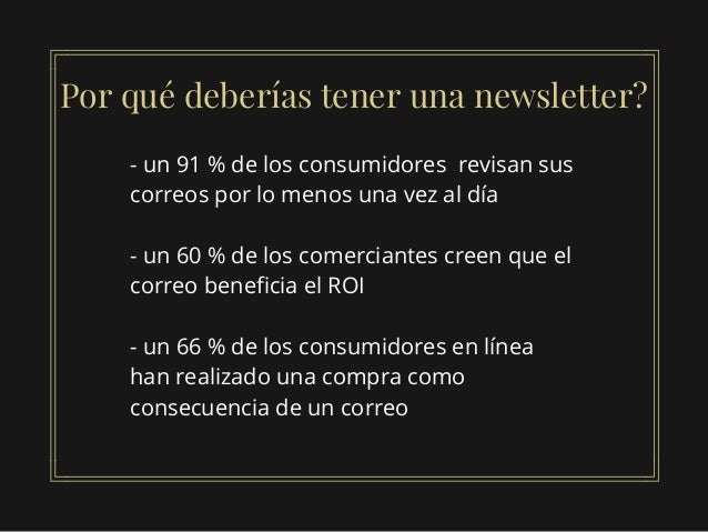 Como crear una newsletter exitosa Slide 2