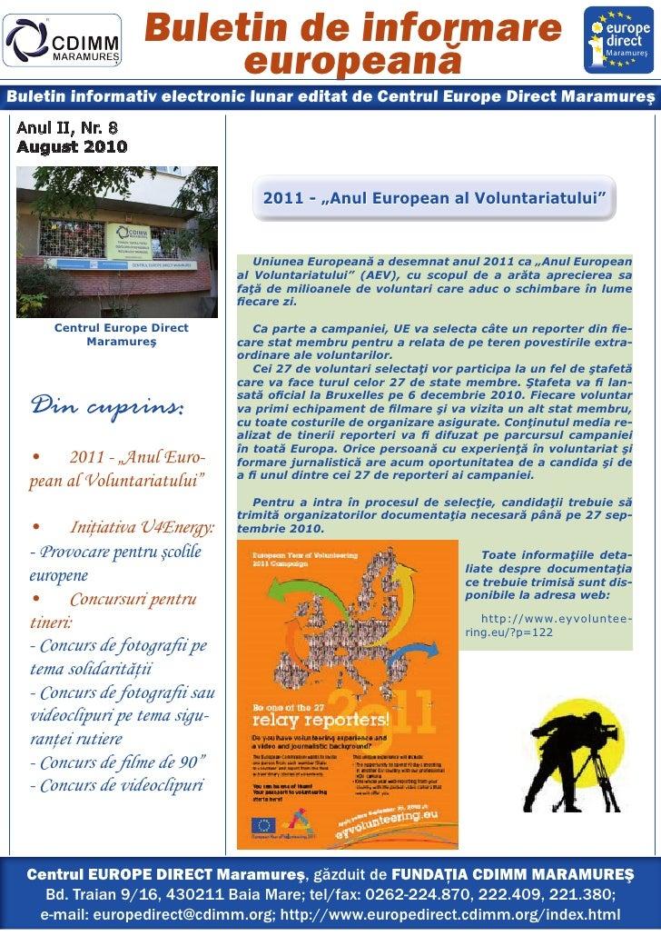Newsletter ed maramures august 2010