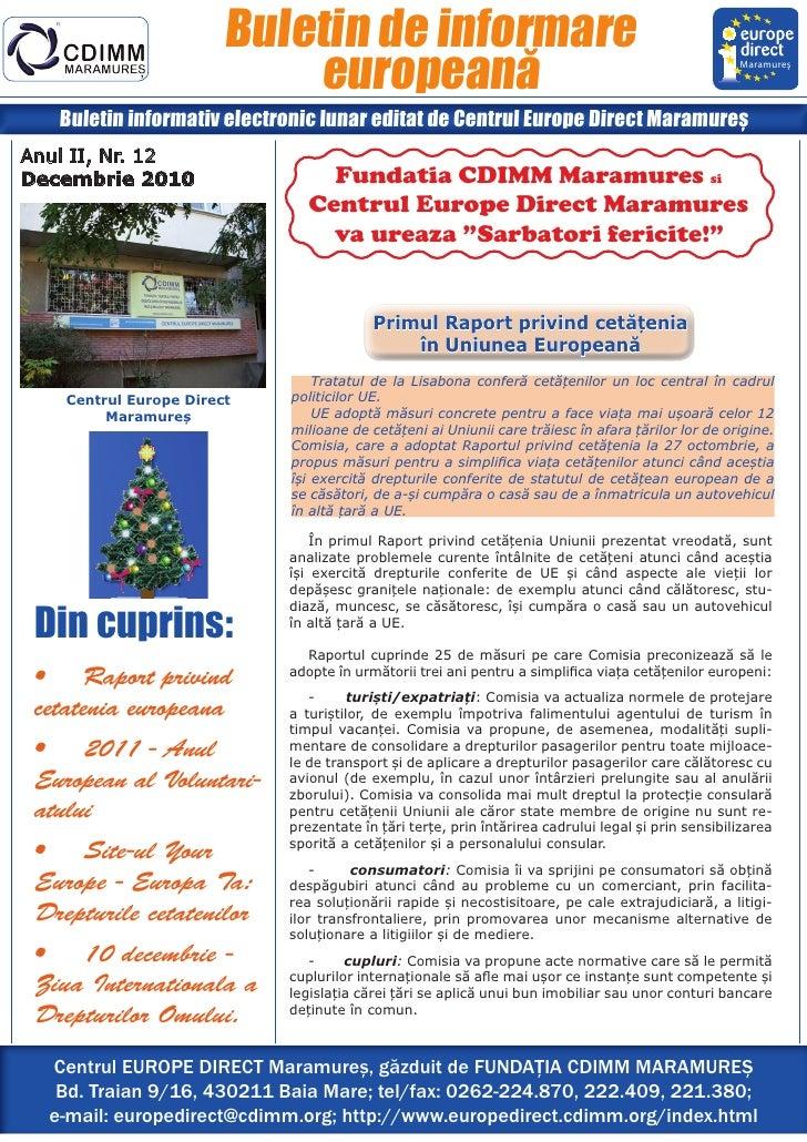 Buletin de informare                            europeană                                                               Ma...