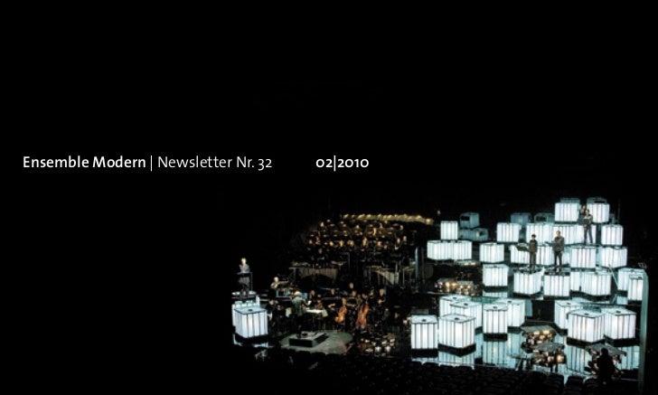 Ensemble Modern   Newsletter Nr. 32   02 2010