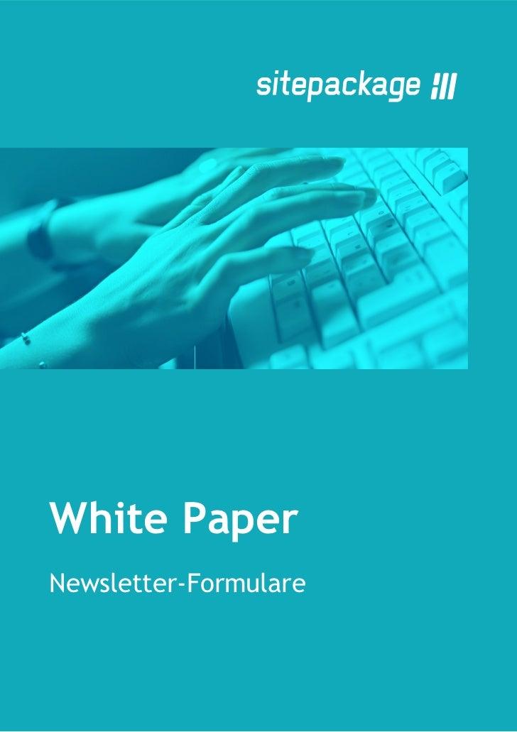 White PaperNewsletter-Formulare