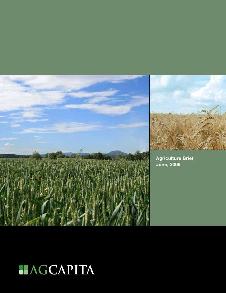 Agriculture Brief     June, 2009     1
