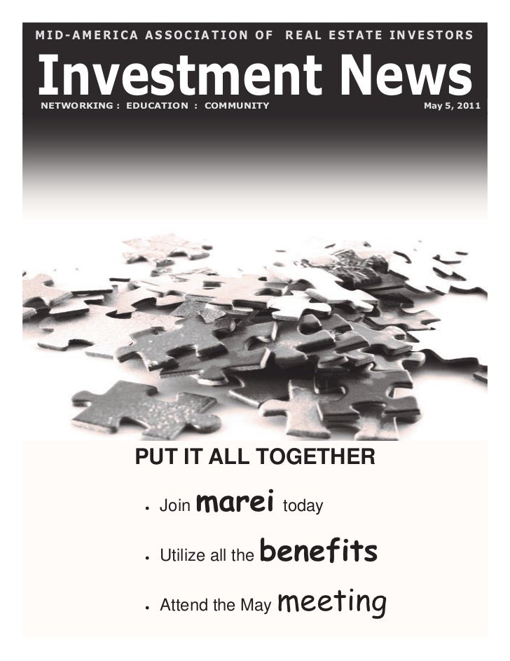MID-AMERICA ASSOCIATION OF            REAL ESTATE INVESTORSInvestment NewsNETWORKING : EDUCATION : COMMUNITY              ...