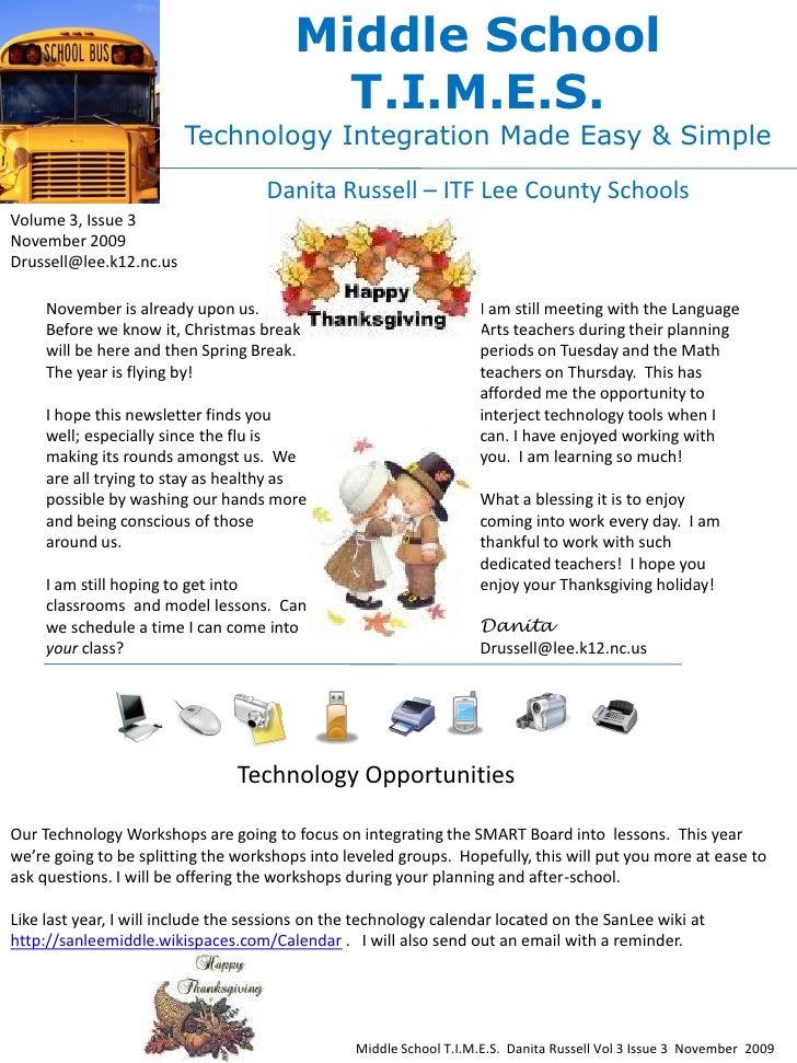 Middle School                                           T.I.M.E.S.                          Technology Integration Made Ea...
