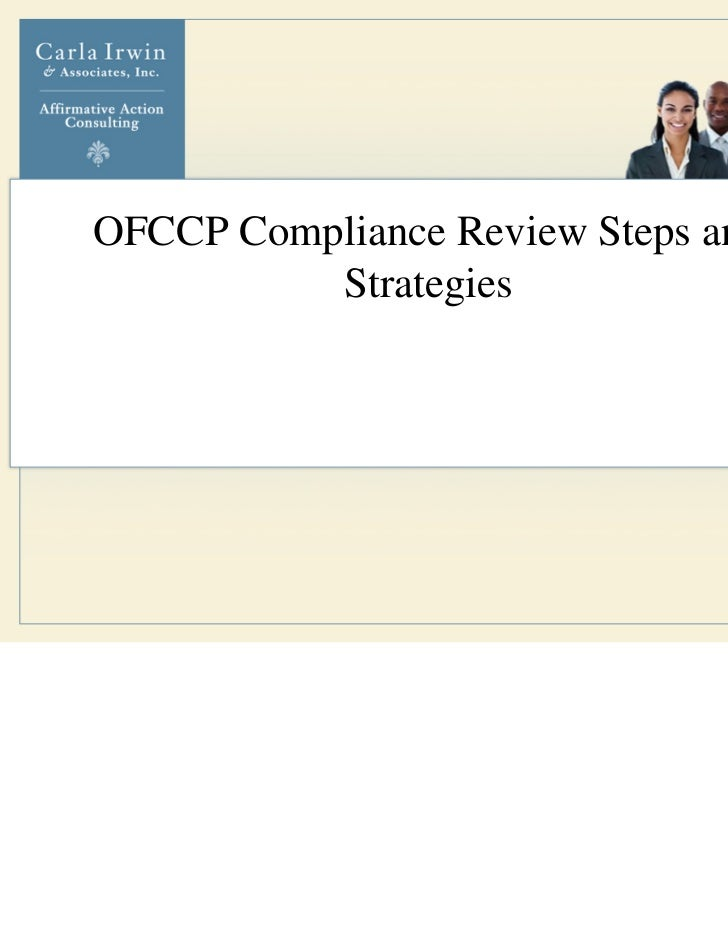 OFCCP Compliance Review Steps and          Strategies