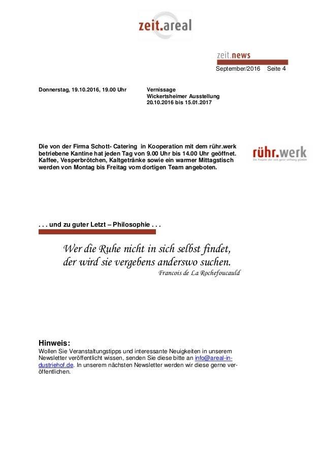September/2016 Seite 4 Donnerstag, 19.10.2016, 19.00 Uhr Vernissage Wickertsheimer Ausstellung 20.10.2016 bis 15.01.2017 D...