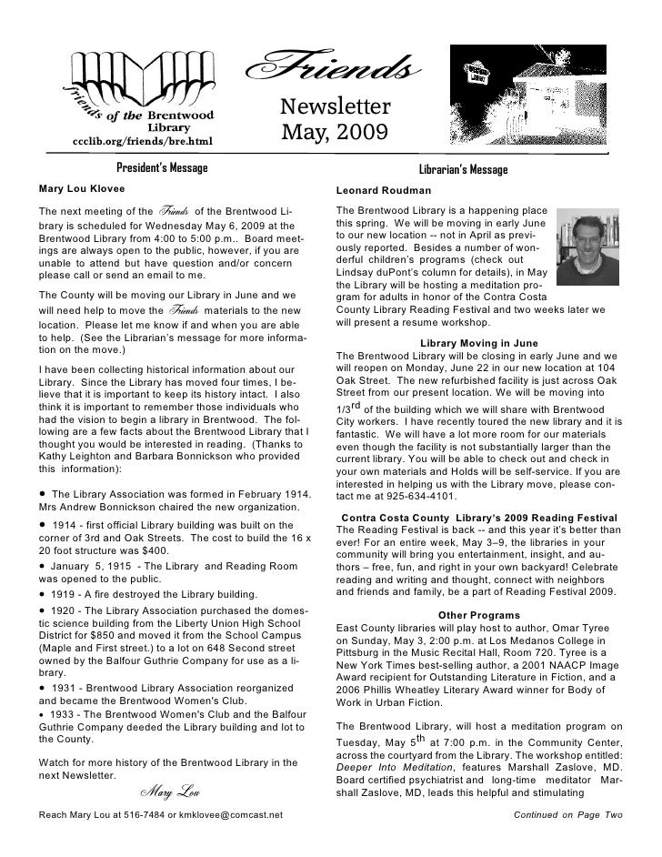 Friends                                                       Newsletter                                                  ...