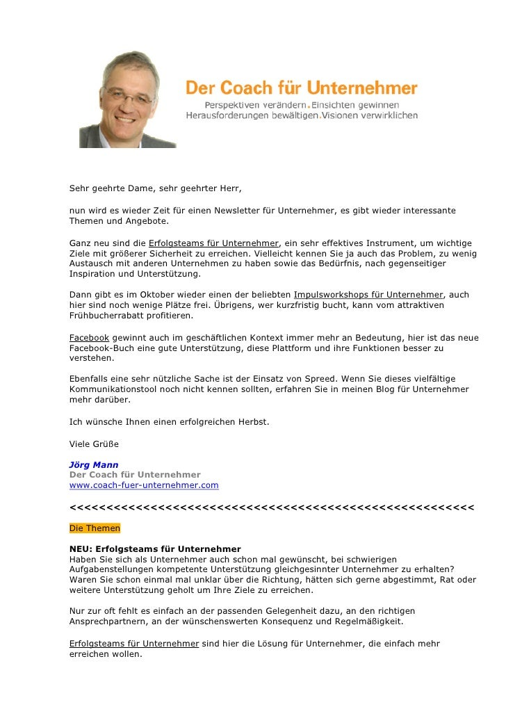 Sehr geehrte Dame, sehr geehrter Herr,  nun wird es wieder Zeit für einen Newsletter für Unternehmer, es gibt wieder inter...