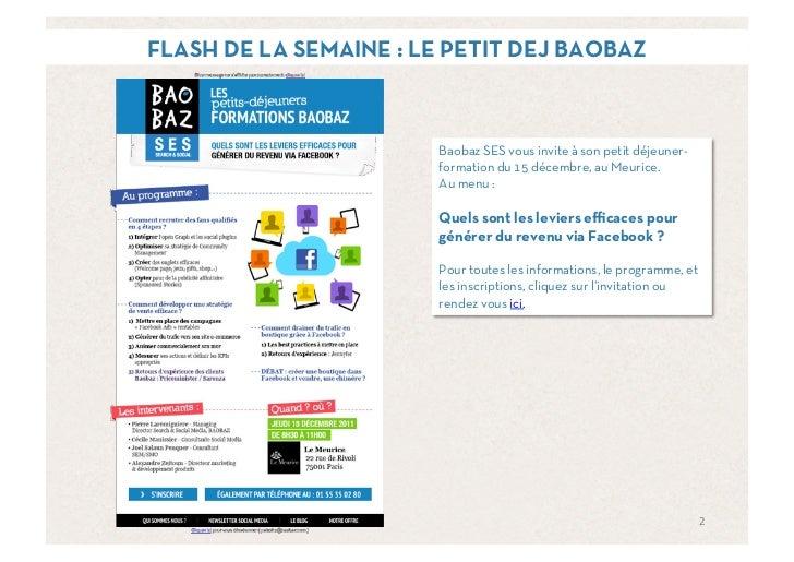 FLASH DE LA SEMAINE : LE PETIT DEJ BAOBAZ                       Baobaz SES vous invite à son petit déjeuner-              ...