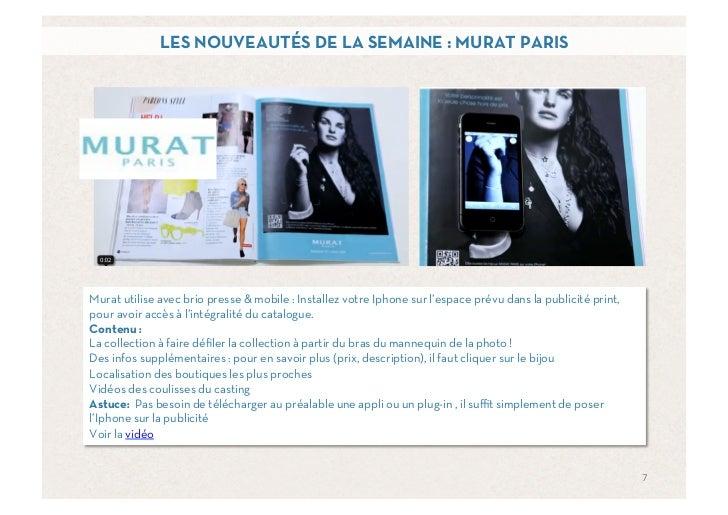 LES NOUVEAUTÉS DE LA SEMAINE : MURAT PARISMurat utilise avec brio presse & mobile : Installez votre Iphone sur l'espace pr...