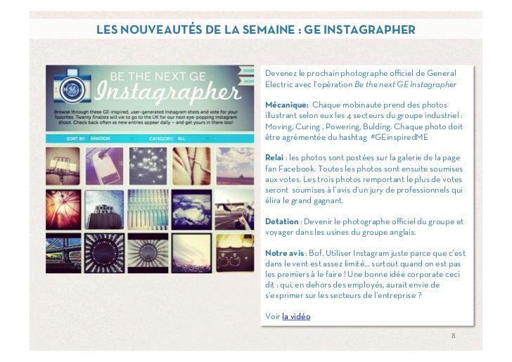 LES NOUVEAUTÉS DE LA SEMAINE : GE INSTAGRAPHER                        Devenez le prochain photographe officiel de General   ...