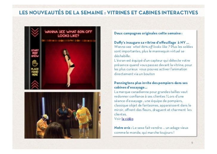 LES NOUVEAUTÉS DE LA SEMAINE : VITRINES ET CABINES INTERACTIVES                                 Deux campagnes originales ...