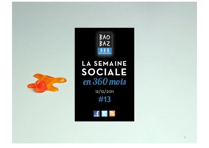 LA SEMAINESOCIALE  360  12/12/2011   #13               1