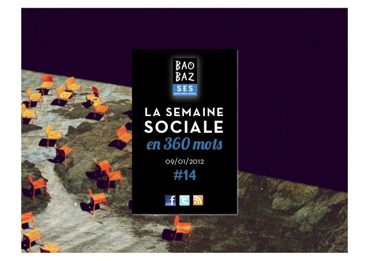 LA SEMAINESOCIALE  360  09/01/2012    #14               1