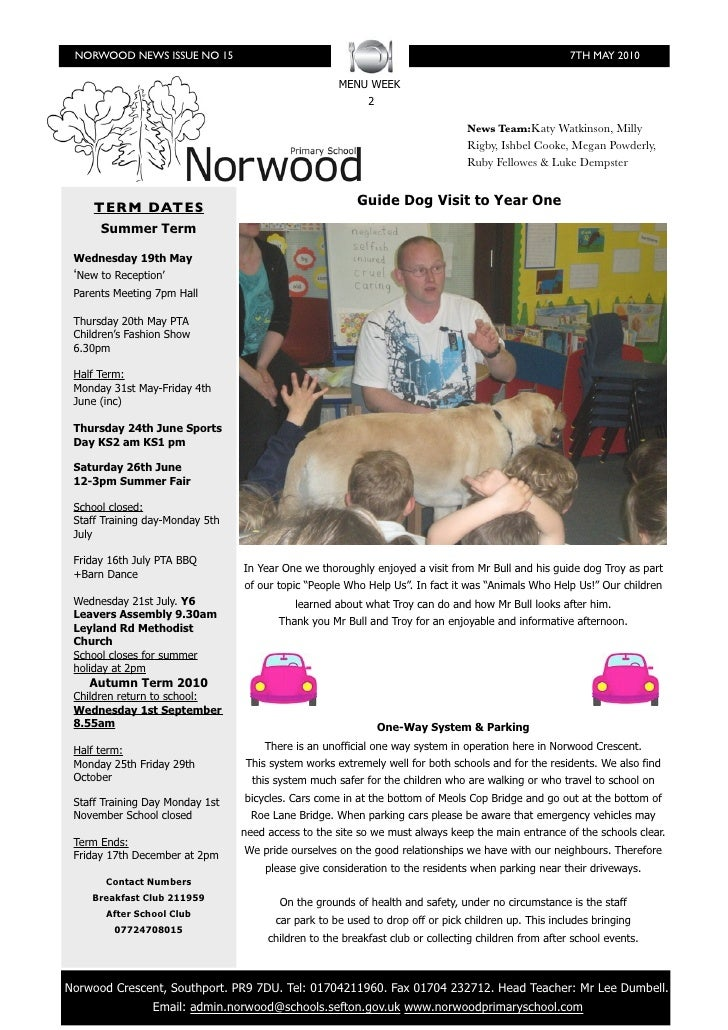 NORWOOD NEWS ISSUE NO 15                                                                             7TH MAY 2010         ...