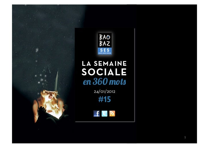 LA SEMAINESOCIALE  360  24/01/2012   #15               1