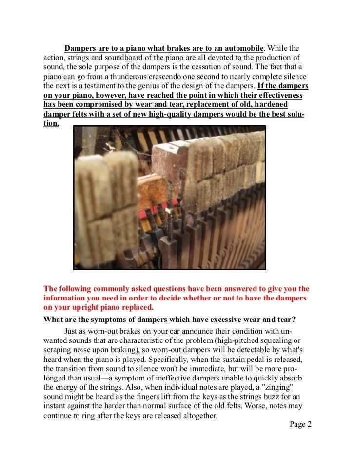 Newsletter 19   upright damper felts Slide 2