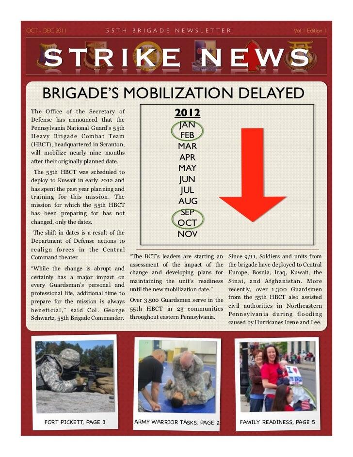 OCT - DEC 2011             5 5 T H    B R I G AD E   N E W S L E T T E R                         Vol 1 Edition 1      ST...
