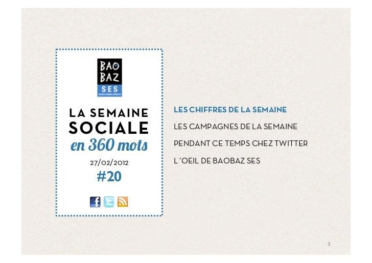 Baobaz SES - La semaine sociale 270212 Slide 3
