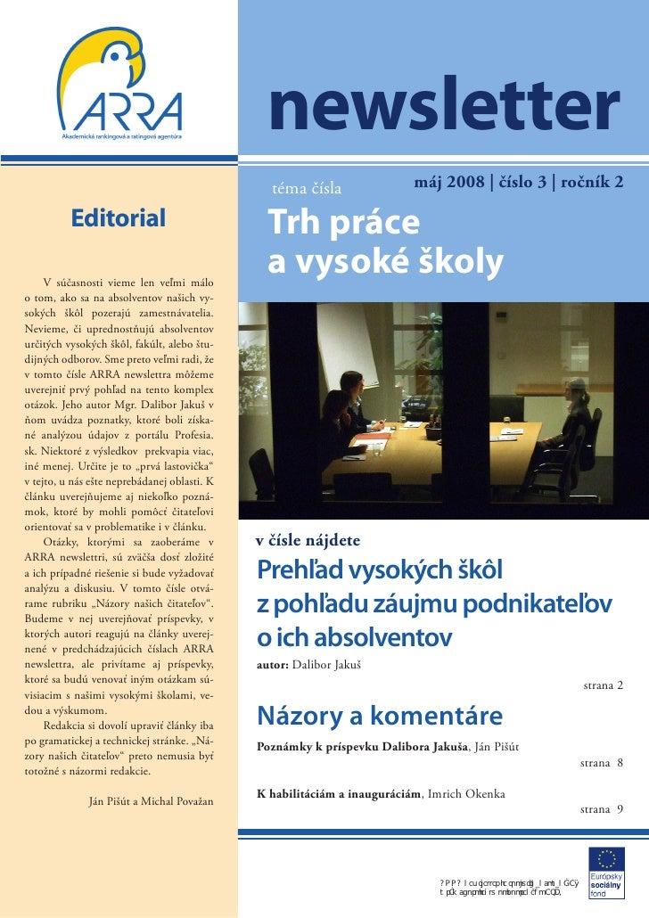 newsletter                                                téma čísla                máj 2008 | číslo 3 | ročník 2         ...