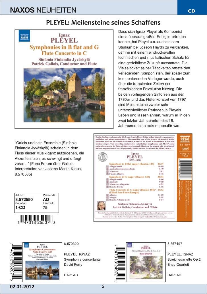 NAXOS Deutschland CD-Neuheiten Januar 2012 Slide 2