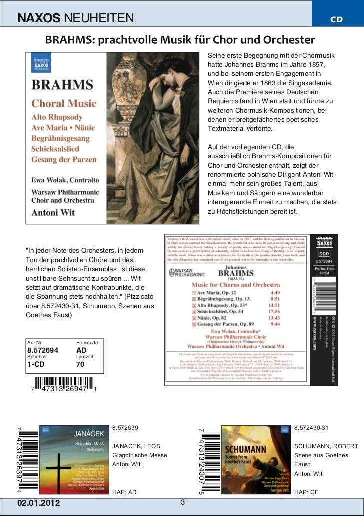 NAXOS Deutschland CD-Neuheiten Januar 2012 Slide 3