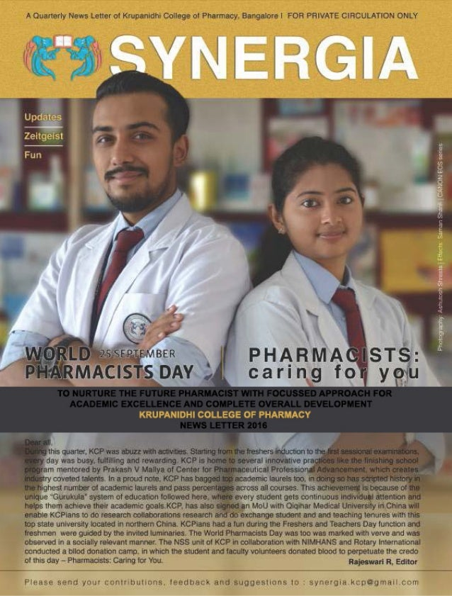 """SYNERGIA VOL.5 ISSUE 4 Oct - Dec 2016 2 DISCLAIMER: SYNERGIA (""""publication"""") intends to provide updated and reliable infor..."""